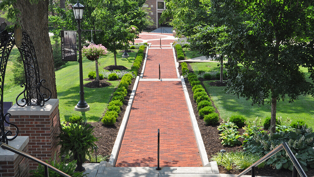 Landscape design at Benedictine College in Atchison, KS completed by Embassy Landscape Group.