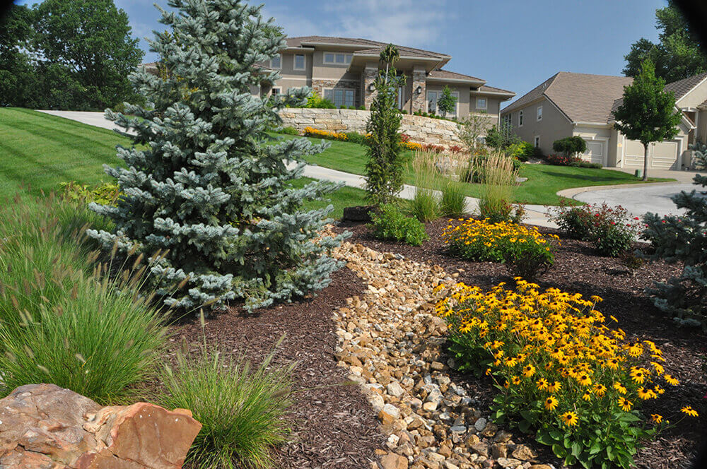 Commercial landscape design completed by Embassy Landscape Group.