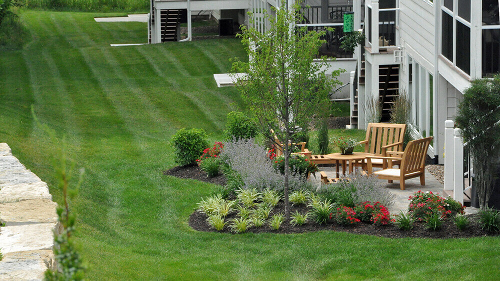Commercial landscape design.