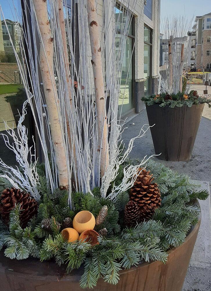 Seasonal arrangement for winter.
