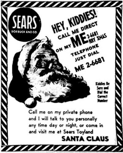 newspaper ad Santa Tracker